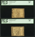Colonial Notes:Continental Congress Issues, Continental Currency February 17, 1776 $1/3 and $2/3 Both PCGS VeryFine 25.. ... (Total: 2 notes)