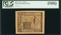 Colonial Notes:Delaware, Delaware January 1, 1776 5s PCGS Superb Gem New 67PPQ.. ...