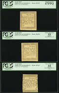 Colonial Notes:Pennsylvania, Joseph Ogden Middle-Ferry on Schuylkill Set of Five PCGS Graded.... (Total: 5 notes)