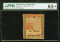 Colonial Notes:Pennsylvania, Pennsylvania April 10, 1775 £5 PMG Choice Uncirculated 64 EPQ.. ...