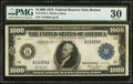 Large Size:Federal Reserve Notes, Fr. 1133-A $1,000 1918 Federal Reserve Note PMG Very Fine 30.. ...