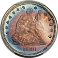 Proof Seated Quarters, 1880 25C PR68 PCGS. Briggs 2-B....