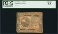 Colonial Notes:Continental Congress Issues, Continental Currency November 2, 1776 $6 PCGS About New 53.. ...