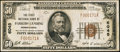 National Bank Notes:Pennsylvania, Parkers Landing, PA - $50 1929 Ty. 1 The First NB Ch. # 6045. ...