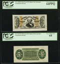 Fractional Currency:Third Issue, Fr. 1328SP 50¢ Third Issue Spinner Wide Margin Pair PCGS Very Choice New 64PPQ and Very Choice New 64.. ... (Total: 2 notes)