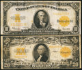 Large Size:Gold Certificates, 1922 Gold Certificate Pair.. ... (Total: 2 notes)