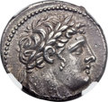 Ancients:Greek, Ancients: PHOENICIA. Tyre. 126/5 BC-AD 67/8. AR shekel (29mm, 14.29gm, 1h). NGC AU ★ 5/5 - 5/5, Fine Style...