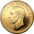 Great Britain, Great Britain: George VI gold Proof 5 Pounds 1937 PR65 CameoNGC,...