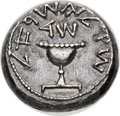 Ancients:Judaea, Ancients: JUDAEA. The Jewish War (AD 66-70). AR shekel (22mm, 12.76gm, 12h). NGC Choice XF 5/5 - 2/5. ...