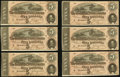 Confederate Notes:1864 Issues, T69 $5 1864 PF-10 Cr. 564 Twelve Examples.. ... (Total: 12 notes)