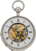 Timepieces:Pocket (pre 1900) , Swiss Quarter Hour Verge Repeater With Hidden Erotic Automaton, circa 1830. ...