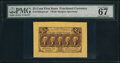 Fractional Currency:First Issue, Fr. 1282SP 25¢ First Issue Wide Margin Face PMG Superb GemUncirculated 67 EPQ.. ...