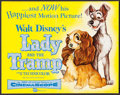 """Movie Posters:Animation, Lady and the Tramp (Buena Vista, 1955). Title Lobby Card (11"""" X14""""). Animation.. ..."""