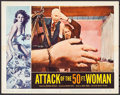 "Movie Posters:Science Fiction, Attack of the 50 Foot Woman (Allied Artists, 1958). Lobby Card (11""X 14""). Science Fiction.. ..."