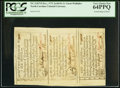 Colonial Notes:North Carolina, North Carolina December, 1771 2s/6d, 5s, and 1s Strip of Three PCGSVery Choice New 64PPQ.. ...
