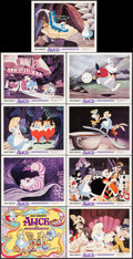 """Movie Posters:Animation, Alice in Wonderland (Buena Vista, R-1974). Lobby Card Set of 9 (11"""" X 14""""). Animation.. ... (Total: 9 Items)"""