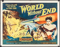 """World Without End (Allied Artists, 1956). Half Sheet (22"""" X 28"""") Style A, & Lobby Cards (3) (11"""" X 14..."""