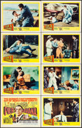 "Movie Posters:Adventure, Pier 5, Havana (United Artists, 1959). Lobby Card Set of 8 (11"" X14""). Adventure.. ... (Total: 8 Items)"