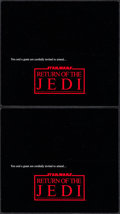 """Movie Posters:Science Fiction, Return of the Jedi (20th Century Fox, 1983). World Premiere EventTickets (2) (9"""" X 8"""") DS. Science Fiction.. ... (Total: 2 Items)"""