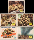 "Movie Posters:War, We Are the Marines (20th Century Fox, 1942). Title Lobby Card &Lobby Cards (4) (11"" X 14""). War.. ... (Total: 5 Items)"