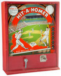 Baseball Collectibles:Others, 1940's Hit-A-Homer Vintage Arcade Game. ...