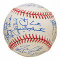 Autographs:Baseballs, 1993 World Series Champion Toronto Blue Jays Team Signed Ball (36Signatures), PSA NM-MT+ 8.5. ...
