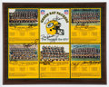 Football Collectibles:Others, Green Bay Packers Signed Championship Plaque, Signed by 13 Packer Legends Including Nitschke, Starr, Hornung, etc....