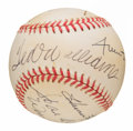 Autographs:Baseballs, 500 Home Run Club Multi Signed Baseball Including Williams, Aaron, Mays, etc. ...
