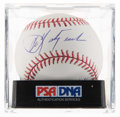 Autographs:Baseballs, Carl Yastrzemski Single Signed Stat Baseball, PSA Mint+ 9.5....