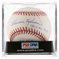 Autographs:Baseballs, Harmon Killebrew Single Signed Stat Baseball, PSA NM-MT 8. ...