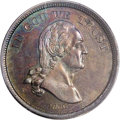 Patterns: , 1866 5C Washington Five Cents, Judd-471, Pollock-563, R.8, PR64 Redand Brown PCGS. A bust of George Washington faces right...