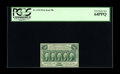 Fractional Currency:First Issue, Fr. 1312 50¢ First Issue PCGS Very Choice New 64PPQ. A brightly colored, well centered First Issue 50¢ note that falls just ...