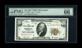 Small Size:Federal Reserve Bank Notes, Fr. 1860-I $10 1929 Federal Reserve Bank Note. PMG Gem Uncirculated 66 EPQ.. Nearly perfect margins frame this Minneapolis $...