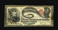 National Bank Notes:Pennsylvania, Northumberland, PA - $2 Original Fr. 387 The First NB Ch. # 566.This Fine Lazy Two is one of just four traced from ...