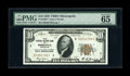 Small Size:Federal Reserve Bank Notes, Fr. 1860-I $10 1929 Federal Reserve Bank Note. PMG Gem Uncirculated 65.. The near consecutive note to this one is offered in...