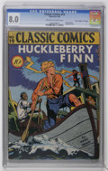 "Golden Age (1938-1955):Classics Illustrated, Classic Comics #19 Huckleberry Finn - Original edition - Davis Crippen (""D"" Copy) pedigree (Gilberton, 1944) CGC VF 8.0 Cream ..."