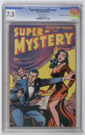 """Golden Age (1938-1955):Crime, Super-Mystery Comics V7#5 Davis Crippen (""""D"""" Copy) pedigree (Ace, 1948) CGC VF- 7.5 Off-white pages. Overstreet 2006 VF 8.0 ..."""