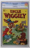 """Golden Age (1938-1955):Funny Animal, Four Color #428 Uncle Wiggily - Davis Crippen (""""D"""" Copy) pedigree(Dell, 1952) CGC NM- 9.2 Cream to off-white pages. Highest..."""