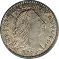 Early Half Dimes: , 1794 H10C MS64 PCGS. V-2, LM-2, R.5. On the obverse, digit 1 of thedate is under the right center of curl 1 equidistant be...