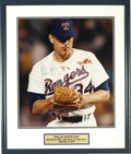 Autographs:Photos, Nolan Ryan Signed Oversized Photograph. On September 8, 1990 thetough Texan Nolan Ryan took the mound for the Rangers. Kan...