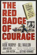 "Movie Posters:War, The Red Badge of Courage (MGM, 1951). One Sheet (27"" X 41""). WarDrama. Starring Audie Murphy, Bill Mauldin, John Dierkes an..."