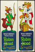 "Movie Posters:Animated, Robin Hood (Buena Vista, 1973). Door Panels (2) (20"" X 59"") andPromo Posters (2) (11"" X 17""). Animated Adventure. Starring ...(Total: 4 Items)"