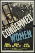 "Movie Posters:Drama, Condemned Women (RKO, 1938). One Sheet (27"" X 41""). Drama. Starring Louis Hayward, Anne Shirley, Esther Dale and Lee Patrick..."