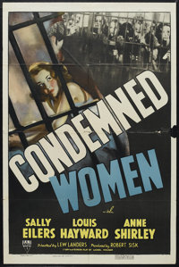 "Condemned Women (RKO, 1938). One Sheet (27"" X 41""). Drama. Starring Louis Hayward, Anne Shirley, Esther Dale a..."