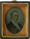 Political:Miscellaneous Political, James Buchanan: A Fine Ambrotype Portrait of our 15th President. Anambro of an engraving set into its original leatherette ...