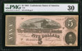 Confederate Notes:1864 Issues, T69 $5 1864 PF-5 Cr. 560.. ...