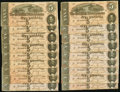 Confederate Notes:1864 Issues, T69 $5 1864 PF-10 Cr. 564 Eighteen Examples.. ... (Total: 18 notes)