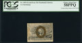 Fractional Currency:Second Issue, Fr. 1283 25¢ Second Issue Treasury Rectangle Note PCGS Choice About New 58PPQ.. ...
