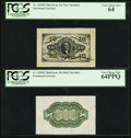 Fractional Currency:Third Issue, Fr. 1253SP 10¢ Third Issue Wide Margin Pair PCGS Very Choice New 64PPQ.. ... (Total: 2 notes)