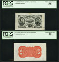 Fractional Currency:Third Issue, Fr. 1274SP 15¢ Third Issue Wide Margin Pair, Both PCGS Choice About New 58.. ... (Total: 2 notes)